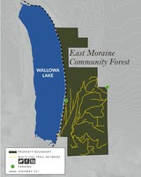 Map of the East Moraine property showing multi-use trails.