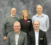 Back row, L to R: Rob Henrikson, Tina Lambert, and Mark Watrin. Front row, L to R: Monty Anderson and Troy McCoy