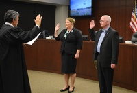 Shauna Walters and Philip Johnson take Oath of Office
