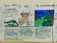 Union Ridge Elementary students made posters about the pika with drawings and detailed information.