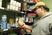 Barry Morganti is an MHCC student who uses the campus food pantry when paying for an education and paying for food have to become a tough choice.
