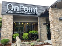 Entrance of OnPoint's new Keizer branch, which will open Monday, June 1, 2020.