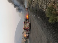 Vehicle fire near I-84 milepost 324