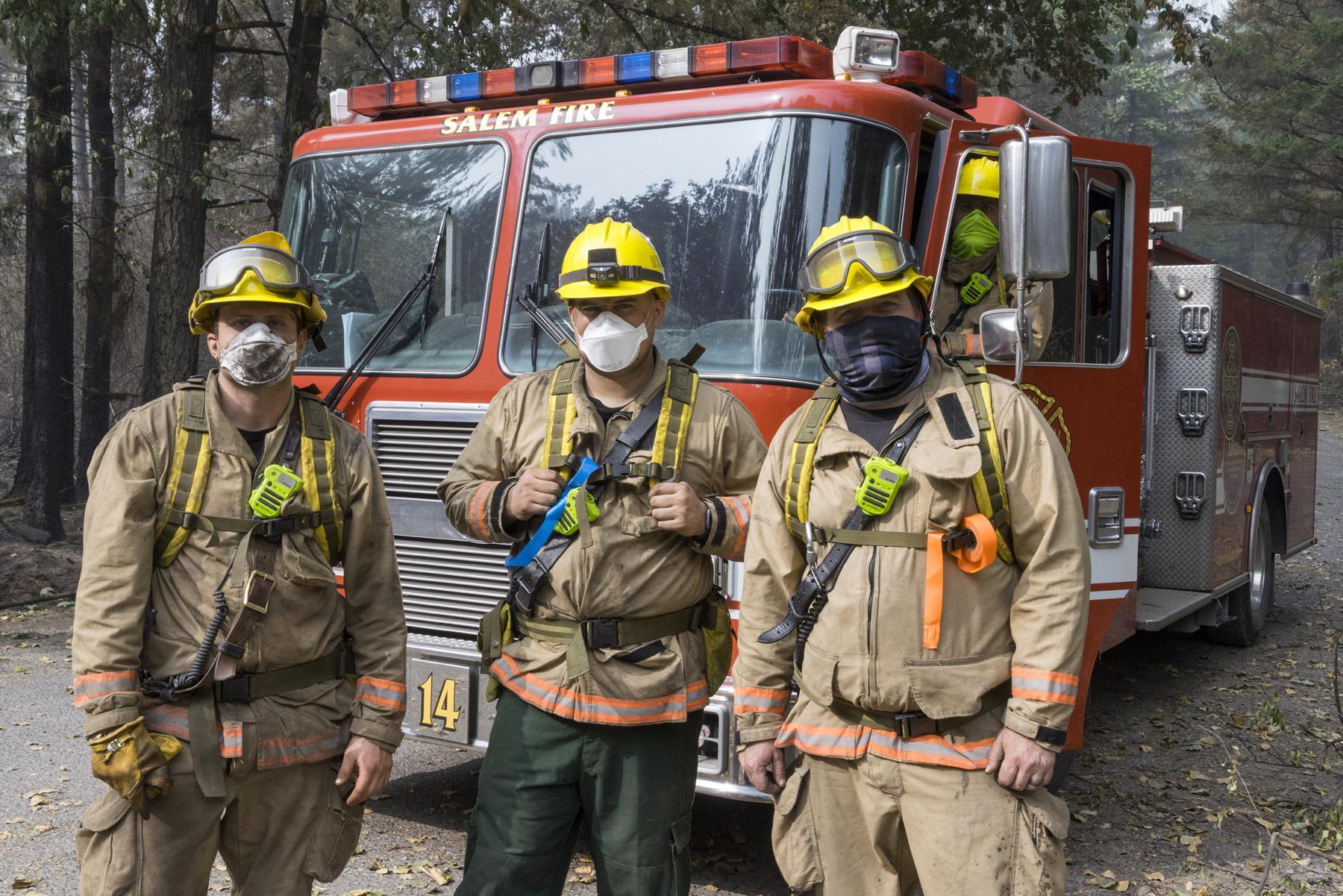 fire fighters in Detroit Oregon